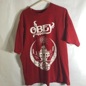 Obey Red XL Shirt